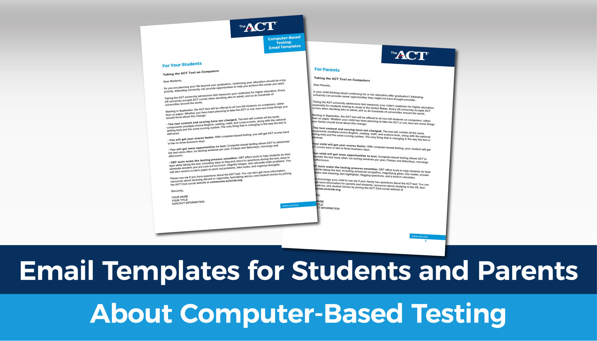 Email Templates for Students and Parents