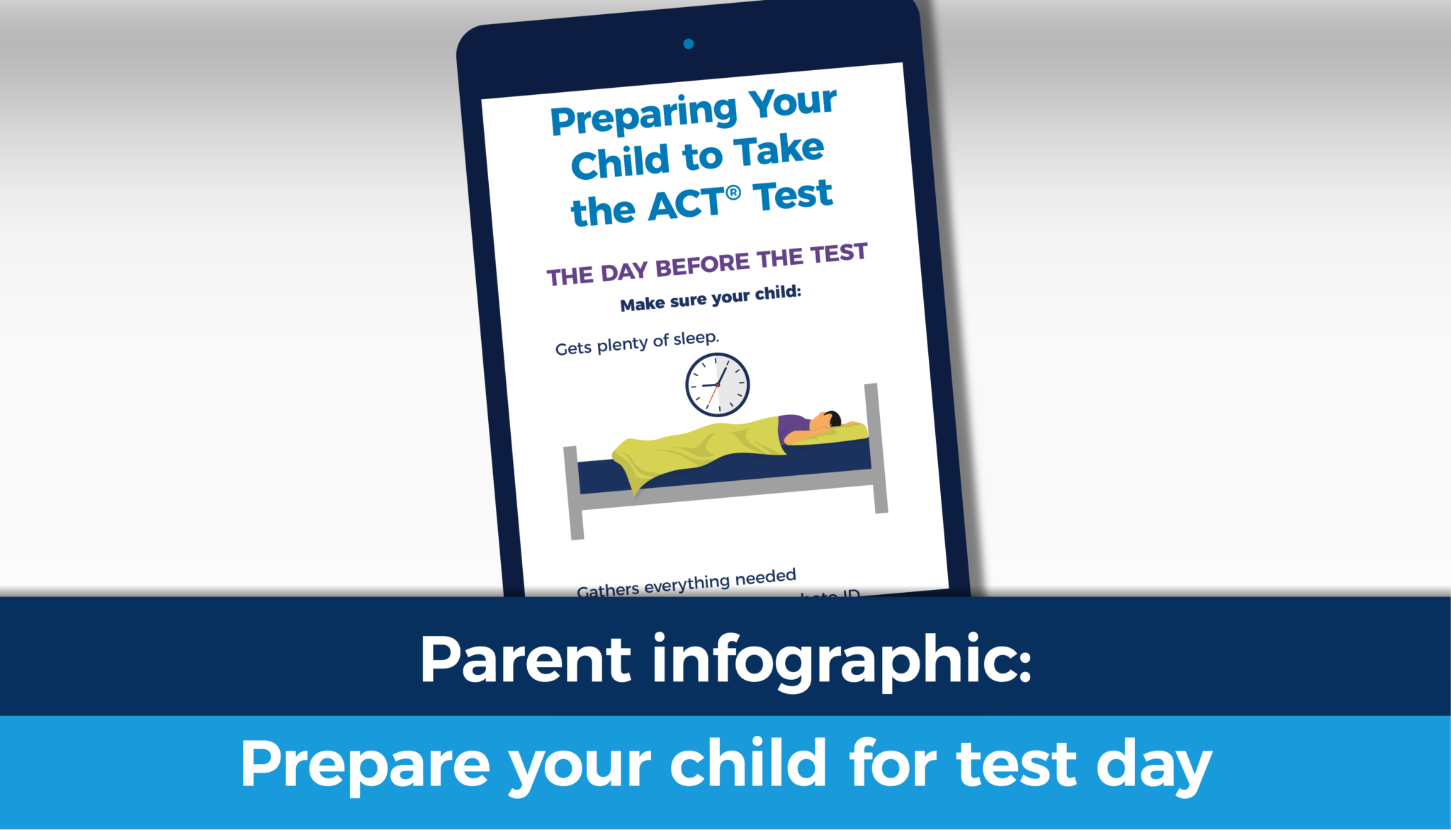 Preparing your child to take the ACT test